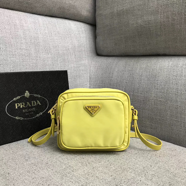 Prada Nylon Shoulder Bag 82022 yellow