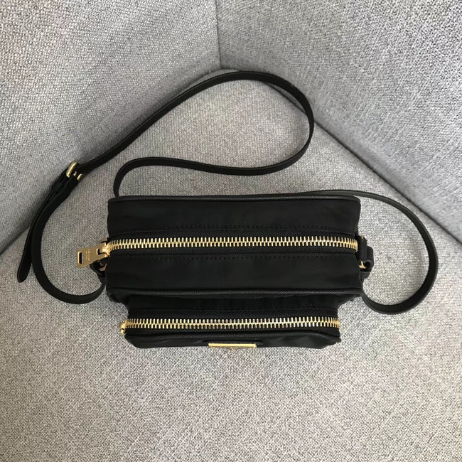 Prada Nylon Shoulder Bag 82022 black