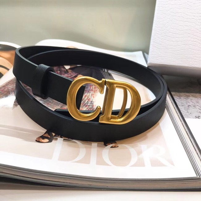 Dior Calf Leather Belt Wide with 20mm 5361 black