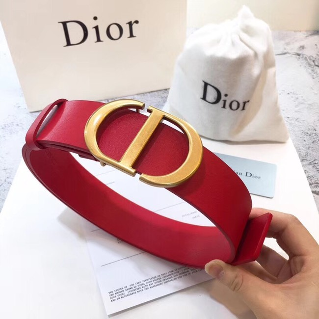 Dior Calf Leather Belt Wide with 40mm 5362 red