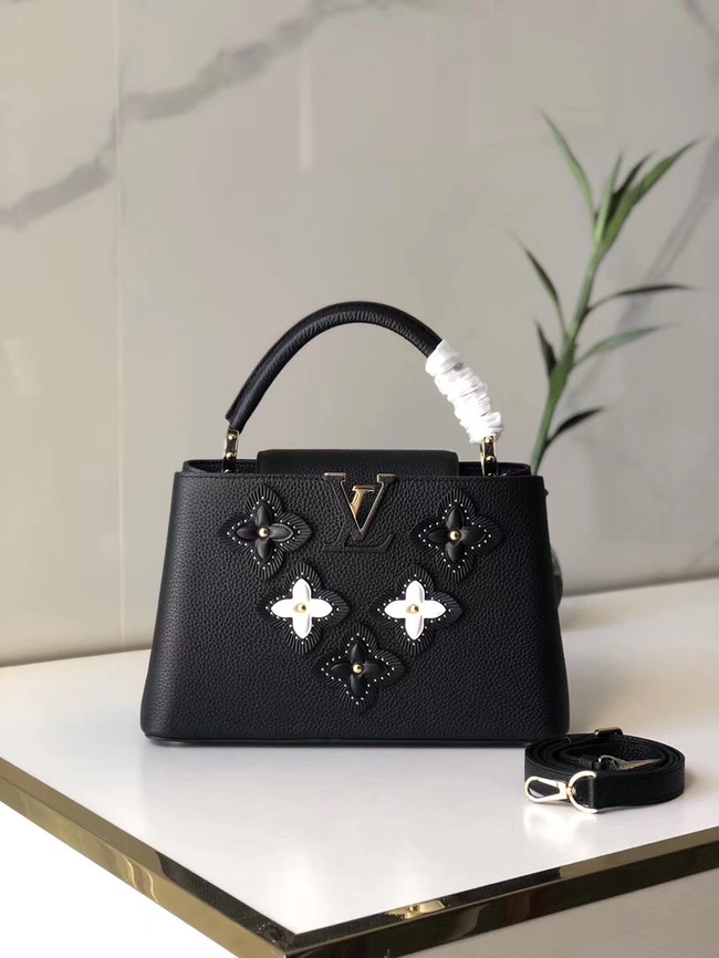 Louis Vuitton CAPUCINES PM M48866 black
