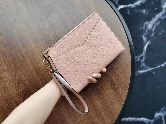 Louis Vuitton Original Monogram Empreinte Clutch bag MELANIE M68705 pink