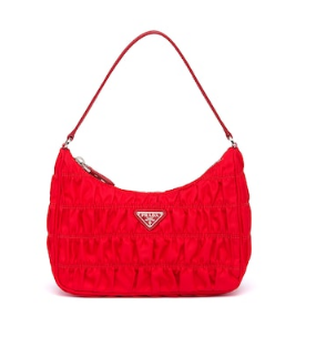 Prada Nylon and Saffiano leather mini bag 1NE204 red