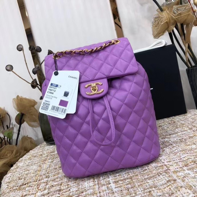 Chanel Backpack Sheepskin Original Leather 83431 Lavender