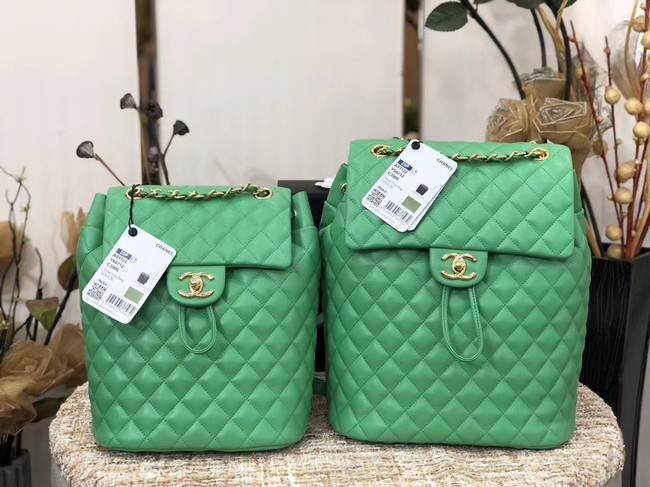 Chanel Backpack Sheepskin Original Leather 83431 green