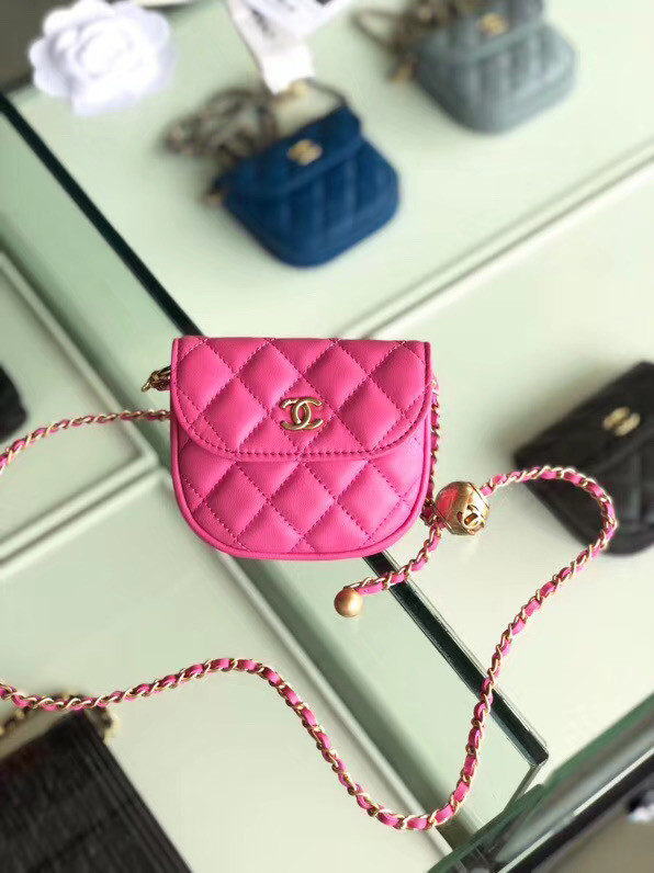 Chanel Sheepskin Original Leather Pocket AP1461 rose