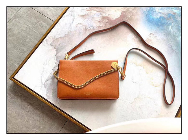 GIVENCHY leather and suede shoulder bag 9337 brown