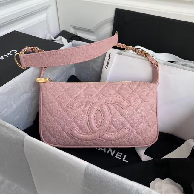 Fashion Chanel Original Caviar Leather Classic Bag 36988 pink