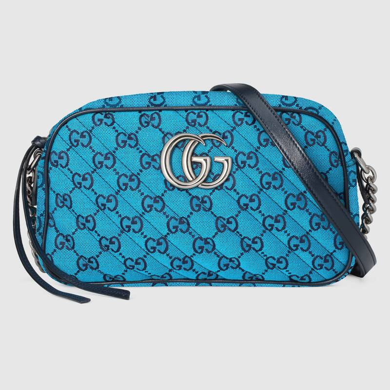 Gucci GG Marmont Multicolor small shoulder bag 447632 blue