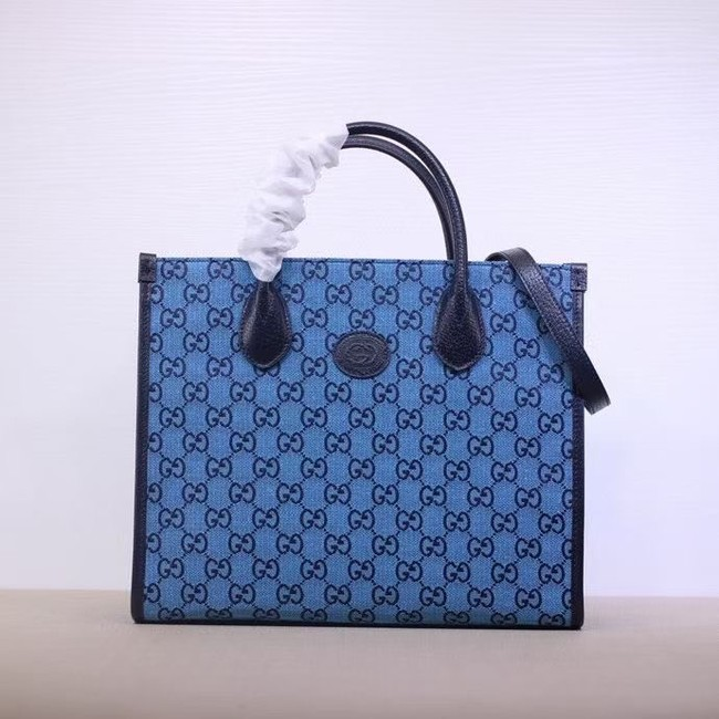 Gucci GG small tote bag 659983 blue